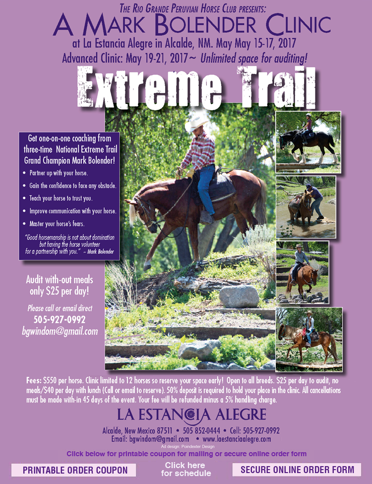 Extreme Trail Clinic Online Registration (DEPOSIT)